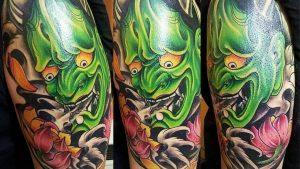 Oni mask tattoo Benefits